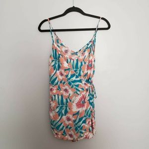 Charlotte Russe NWOT Floral Wrap Romper size S